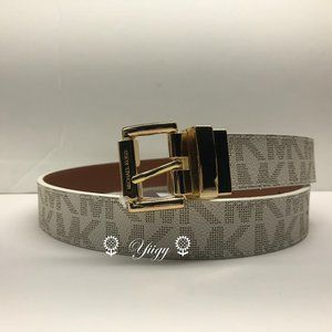 Michael Kors Reversible Logo Leather Belt Small